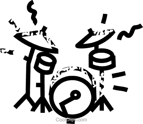 drums Royalty Free Vector Clip Art illustration vc032848