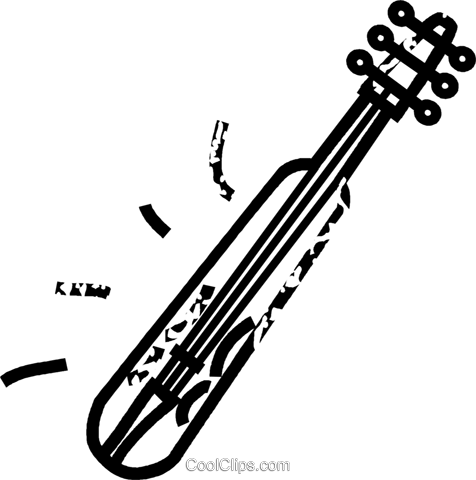 stringed instrument Royalty Free Vector Clip Art illustration vc032851
