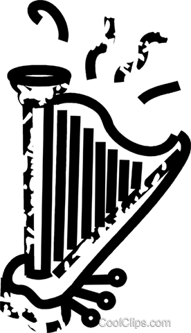 harp Royalty Free Vector Clip Art illustration vc032858