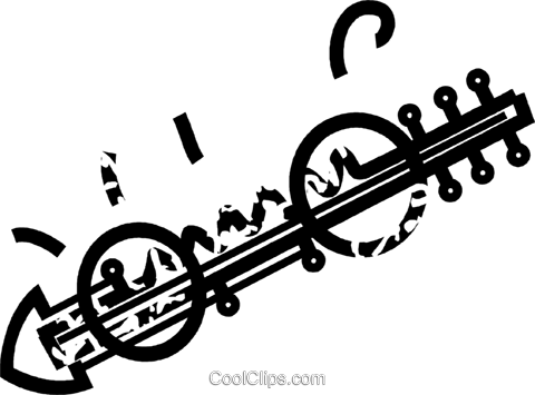 stringed instrument Royalty Free Vector Clip Art illustration vc032862