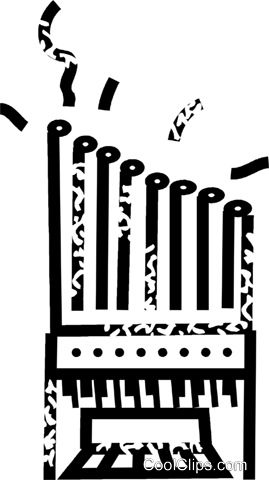 pipe organ Royalty Free Vector Clip Art illustration vc032866
