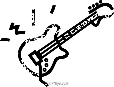electric guitar Royalty Free Vector Clip Art illustration vc032878
