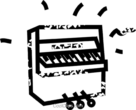 piano Royalty Free Vector Clip Art illustration vc032889