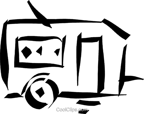 camping trailer Royalty Free Vector Clip Art illustration vc032905