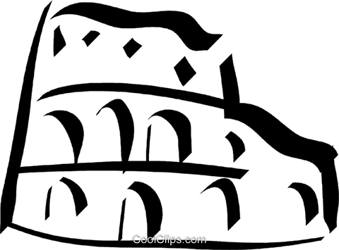 Roman coliseum Royalty Free Vector Clip Art illustration vc032942