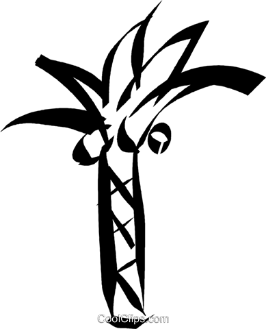 palm trees Royalty Free Vector Clip Art illustration vc032961