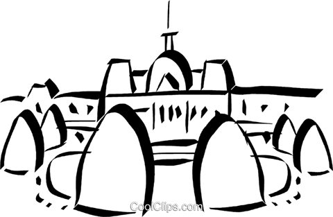 Cathedral Royalty Free Vector Clip Art illustration vc032966