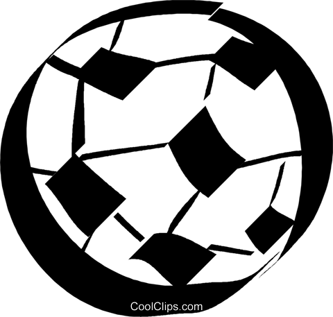 soccer ball Royalty Free Vector Clip Art illustration vc032973