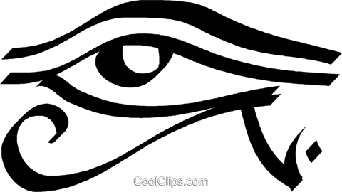 Egyptian eye Royalty Free Vector Clip Art illustration vc033006
