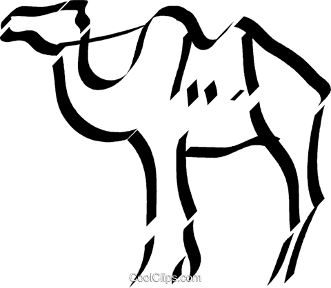 camel Royalty Free Vector Clip Art illustration vc033009