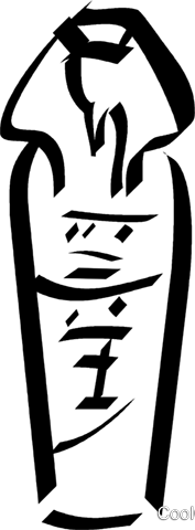 Egyptian Mummy Royalty Free Vector Clip Art illustration vc033018