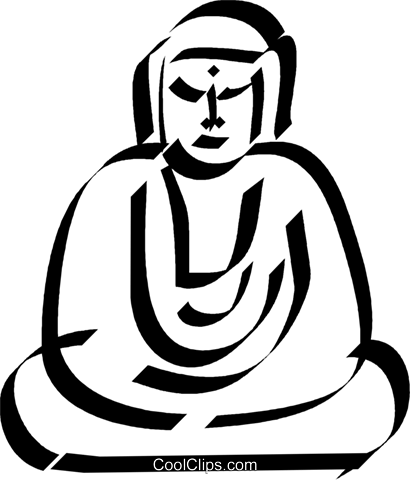 Buddha Royalty Free Vector Clip Art illustration vc033024