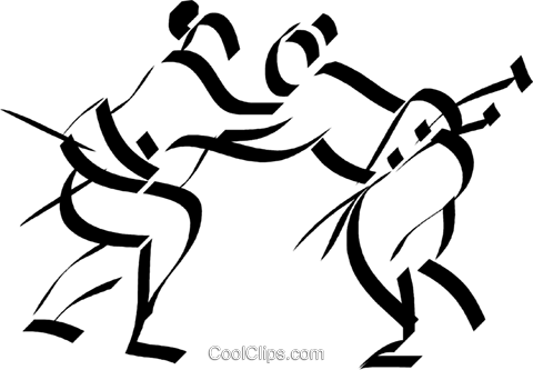 Japanese Sumo wrestlers Royalty Free Vector Clip Art illustration vc033039