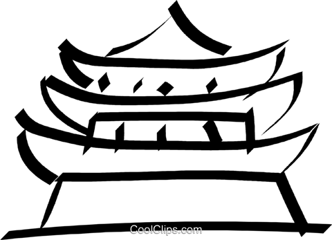pagoda/temple Royalty Free Vector Clip Art illustration vc033042