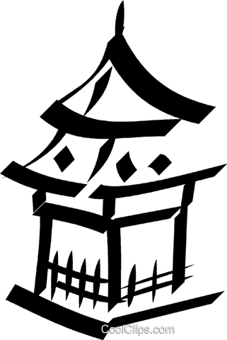 Japanese temple Royalty Free Vector Clip Art illustration vc033058