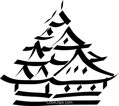 pagoda/temple Royalty Free Vector Clip Art illustration vc033065