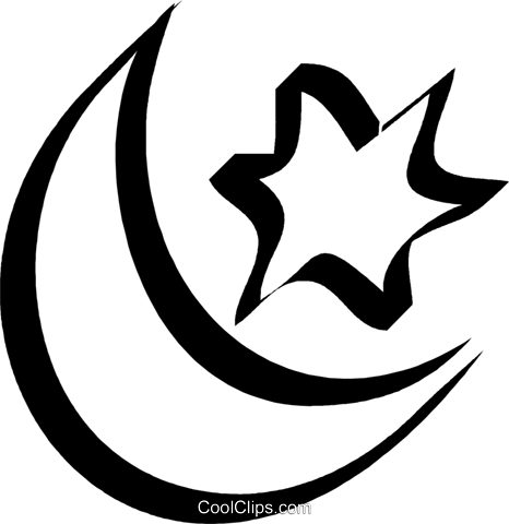 Moon and stars Royalty Free Vector Clip Art illustration vc033095