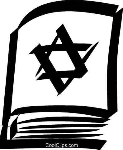 Jewish bible Royalty Free Vector Clip Art illustration vc033099
