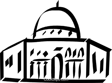 Muslim temple Royalty Free Vector Clip Art illustration vc033108