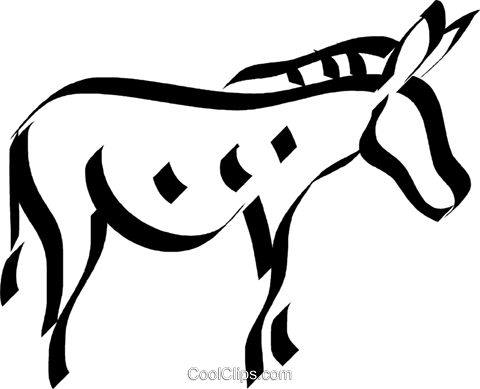 donkey Royalty Free Vector Clip Art illustration vc033111