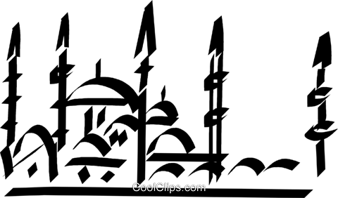Temple Royalty Free Vector Clip Art illustration vc033112