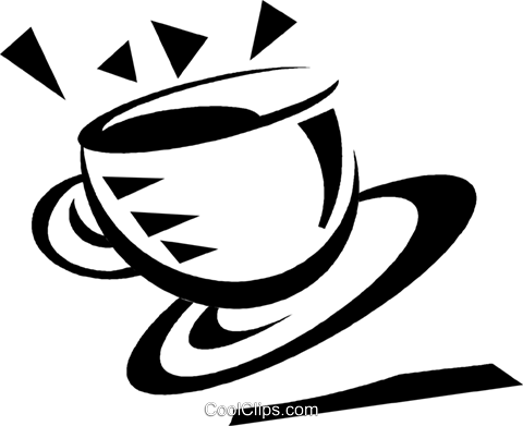 cup of coffee Royalty Free Vector Clip Art illustration vc033122