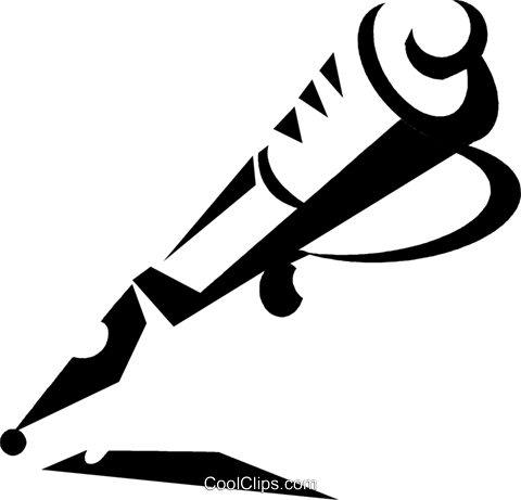 fountain pen Royalty Free Vector Clip Art illustration vc033147