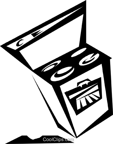 stove Royalty Free Vector Clip Art illustration vc033156