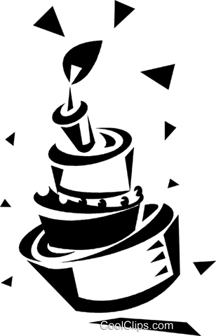birthday cake Royalty Free Vector Clip Art illustration vc033200