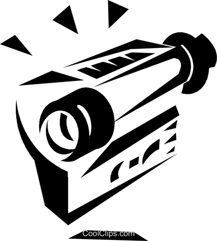 video camera Royalty Free Vector Clip Art illustration vc033214