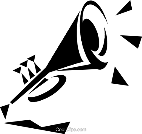trumpet Royalty Free Vector Clip Art illustration vc033230