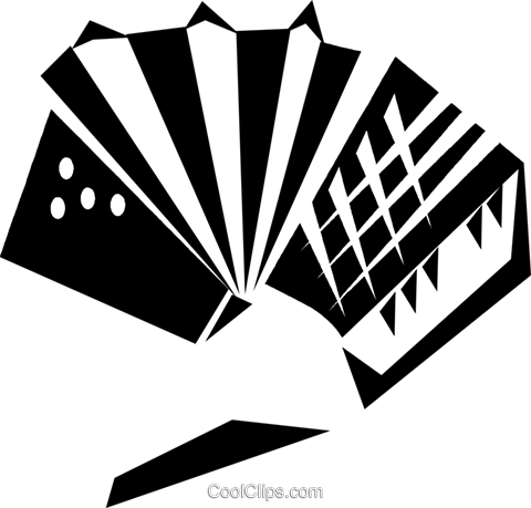 accordion Royalty Free Vector Clip Art illustration vc033235