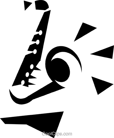 saxophone Royalty Free Vector Clip Art illustration vc033252