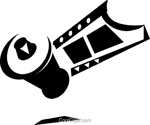 film for a camera Royalty Free Vector Clip Art illustration vc033274