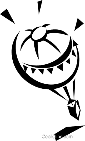 hot air balloon Royalty Free Vector Clip Art illustration vc033284