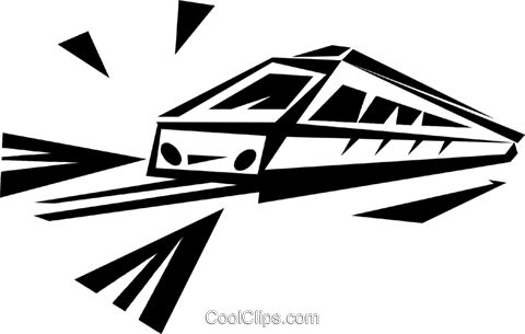 monorail Royalty Free Vector Clip Art illustration vc033287