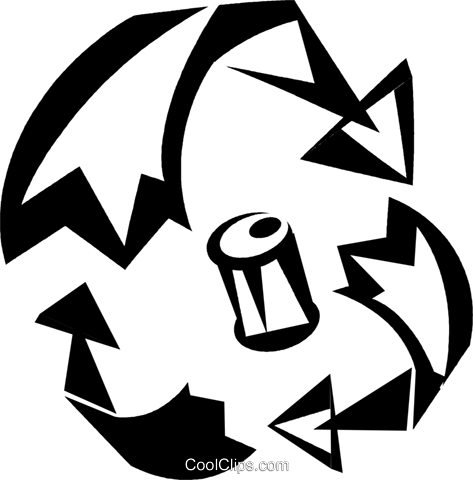 Recycling Symbols Royalty Free Vector Clip Art illustration vc033313