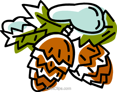 pinecones Royalty Free Vector Clip Art illustration vc033355