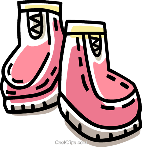winter boots Royalty Free Vector Clip Art illustration vc033390