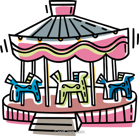 merry-go-round Royalty Free Vector Clip Art illustration vc033421