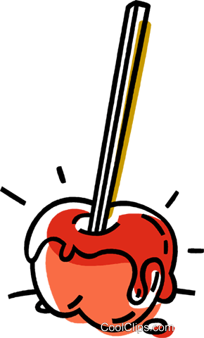 candy apple Royalty Free Vector Clip Art illustration vc033422