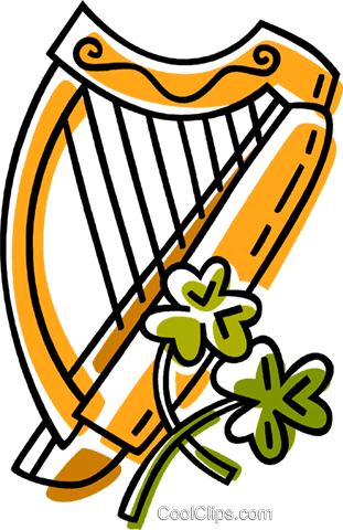 harp Royalty Free Vector Clip Art illustration vc033431