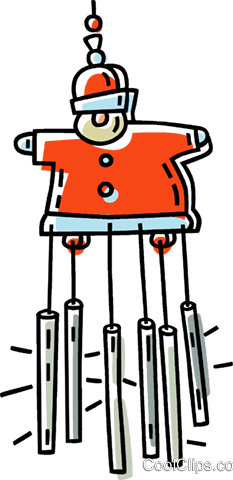 Christmas wind chimes Royalty Free Vector Clip Art illustration vc033439