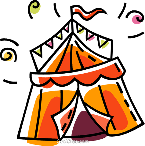 circus tent Royalty Free Vector Clip Art illustration vc033457