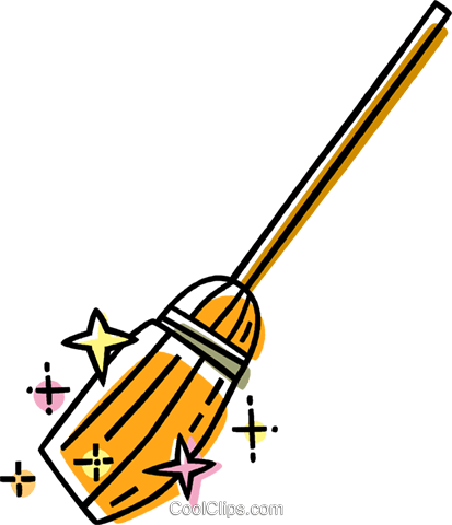 broom Royalty Free Vector Clip Art illustration vc033488