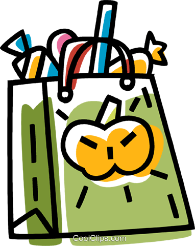 Halloween bag Royalty Free Vector Clip Art illustration vc033491