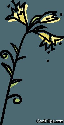 树叶花朵粘贴画裙子-花 免版税矢量剪贴画插图