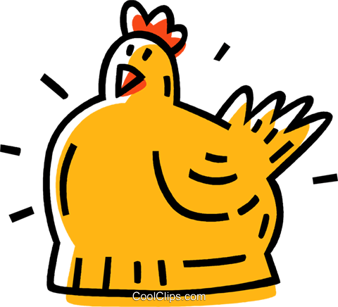 hen Royalty Free Vector Clip Art illustration vc033521