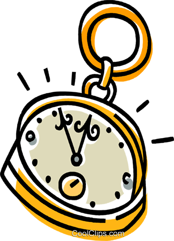 pocket watch Royalty Free Vector Clip Art illustration vc033528