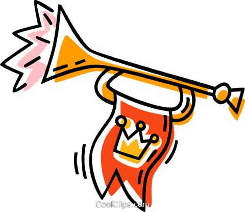 horn Royalty Free Vector Clip Art illustration vc033538